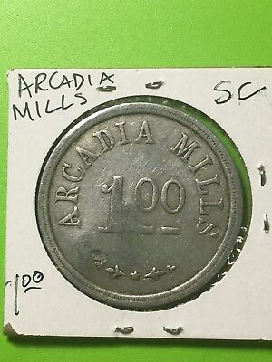 Arcadia SC Cotton Mill Store token, $1.00, South Carolina