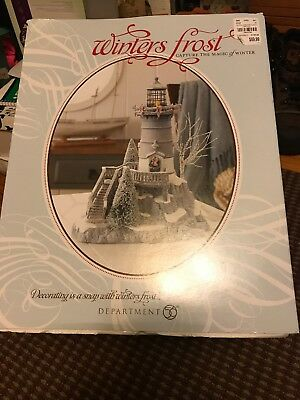 Dept 56 Winter's Frost Light House & Mill New in Packages