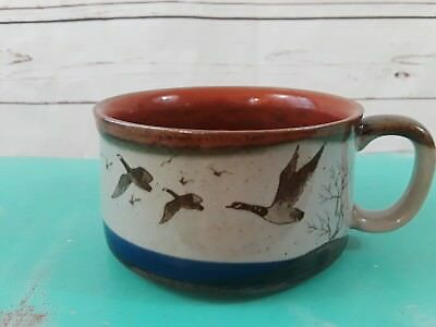 Large Coffee Mug Soup Chili Cereal Bowl with Handle with Flying Geese