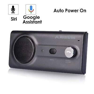 2018 Avantree New Bluetooth Handsfree Visor Car Kit with Siri, Google Ass... New