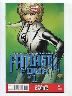 2012 Marvel Fantastic Four #1 1:100 Joe Quesada Color Variant Nm+ 9.6 D1