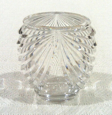 Vintage Signed Val St Lambert Hand Crafted Crystal Vase