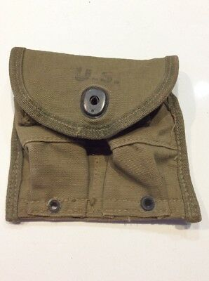 WWII US Pocket Magazine Pouch For M1 Carbine Dated 1944