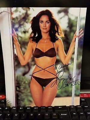 LYNDA CARTER AUTHENTIC SIGNED 8x10 PHOTO In a Bikini Signed to Andrew
