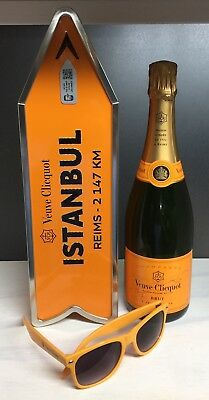 Veuve Clicquot Champagne Destination Arrow Tin Box ISTANBUL Journey Street Sign