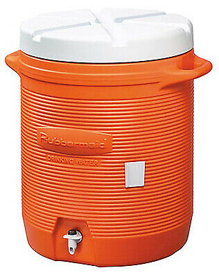 Rubbermaid 161001 11 10-Gallon Orange Water Cooler - Quantity 1