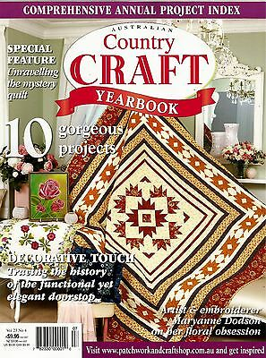 Country Craft  Yearbook Magazine. Vol 23 No 4.  Pattern Sheet Attached