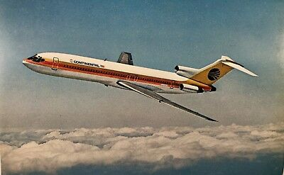 Continental Airlines Boeing 727-200 Postcard Vintage P914