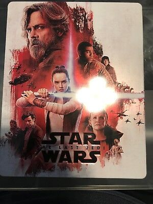 Star Wars: The Last Jedi Steelbook Case And Dvd Only, No Blu Ray Or Digital Incl