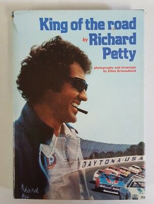 """KING OF THE ROAD"" by Richard Petty - 1st ED 1977 hardcover w/jacket - good!"