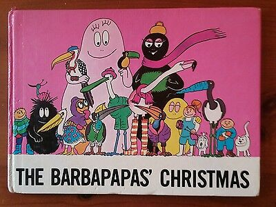VERY RARE HARDBACK ENGLISH BOOK!! THE BARBAPAPA`S CHRISTMAS - 1st Printing 1982