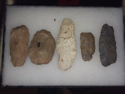 Authentic Ohio knife and blade group indian artifact arrowhead