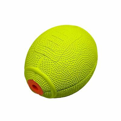 Pets Toy Squeeze Ball Natural Rubber Rugby Design Sound for Dogs, Cats