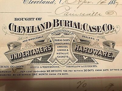 1800's Cleveland casket cemetery funeral embalming undertaker mortician hearse
