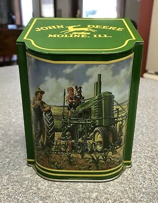 John Deere Tractor Tin Container - Cool!