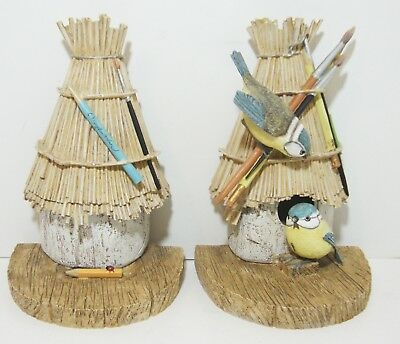 Marjolein Bastin Natures Sketchbook Birdhouse Bookends Hallmarks ASIS