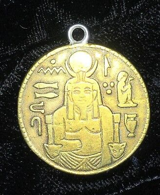 Egyptian Sphinx Pyramid King Tut Token Coin Adapted To Pendant