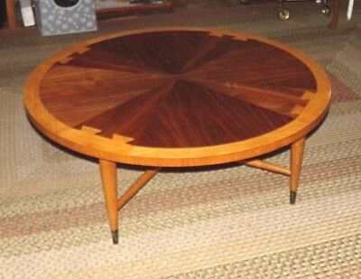 Vintage Mid Century Modern Lane Acclaim Round Coffee Cocktail Table 1959