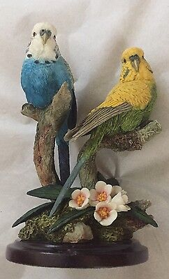 """The Stratford Collection-Pair Of Parakeets 5.5"""" Tall"""