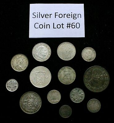 Foreign Silver Coin Lot: Collection of Old World Silver Coins #60