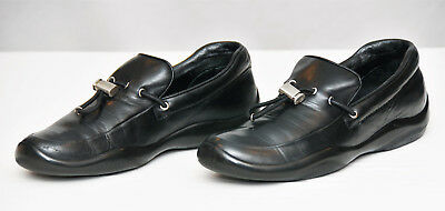86a4dd4e573 low price prada shoes prada apron toe penny loafer dfb40 5c95f  where can i  buy pradamens black leather toggle sport slip on loaferssize 7.5 a7154 22012