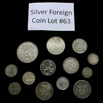 Foreign Silver Coin Lot: Collection of Old World Silver Coins #63