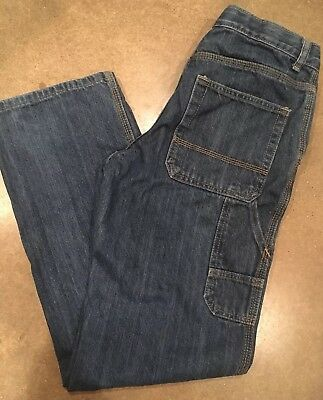 Cat & Jack Boys size 16 Relaxed Straight fit Denim Carpenter Jeans