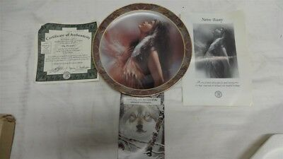 """NATIVE BEAUTY COLLECTION """"THE PROMISE"""" Plate from THE BRADFORD EXCHANGE 10324 A"""
