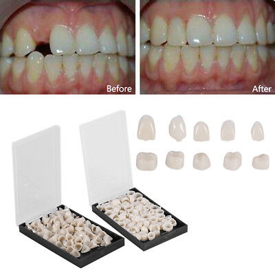 Useful 50Pcs Dental Temporary Crowns Resin Tooth Teeth Polycarbonate Caps