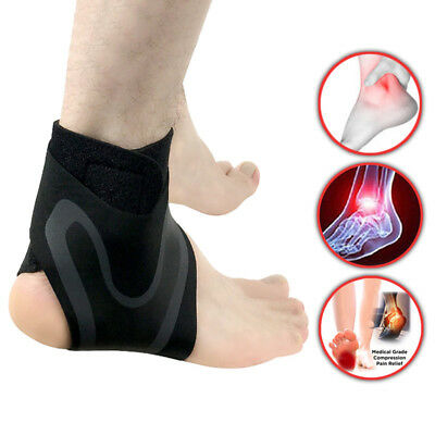 Unisex Ankle Support Brace Injury Wrap Elastic Foot Guard Splint Strap Protector