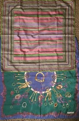 Lot Of 2 VINTAGE Italian Scarves By SUNKYUNG SA and MAURONI