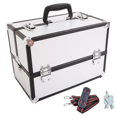 "Pro 14"" Aluminum Makeup Train Jewelry Storage Box Cosmetic Organizer Travel Case"