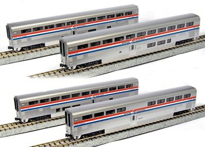 NEW Kato 106-3517 N Scale Amtrak Superliner 4 Car Passenger Set A (Phase III)