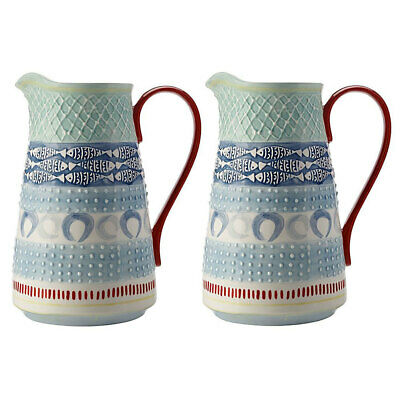 2x Maxwell & Williams 2.8L Laguna Ceramic Pitcher/Juice Water Drink Serving Jug