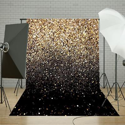 5x7FT Gold Glitter Sequin Photography Wall Backdrop Background Studio Prop Vinyl