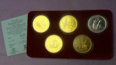 1979 Isle Of Man  Uncirculated  Coin Collection Anniversary Of Tynwald