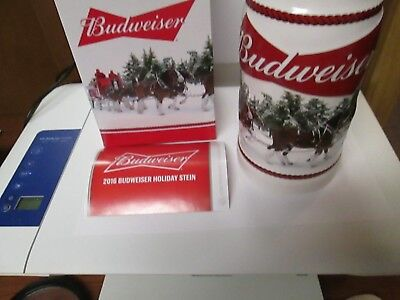 NIB Budweiser 2016 Holiday Stein