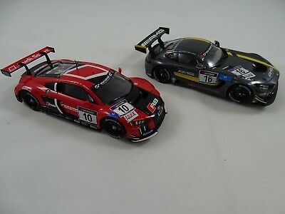 "Carrera Evolution Mercedes-AMG GT3 27531+ Audi R8 LMS ""Audi Sport Team"
