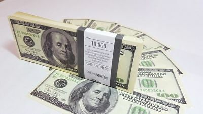 $100 DOLLARS SOUVENIR BILLS 1 pack for Prank, Games, Movies&Videos and Gift