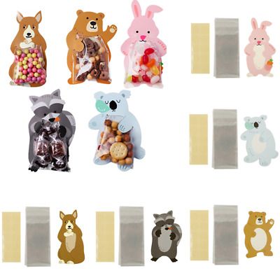 10 - OPP Cute Animal Gift Bags Candy Bags Wedding SWEET FLAVOUR CAKE GIFT SHOP