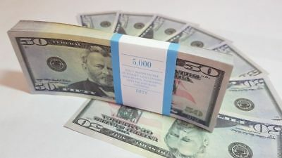 $50 DOLLARS SOUVENIR BILLS 1 pack for Prank, Games, Movies&Videos and Gift
