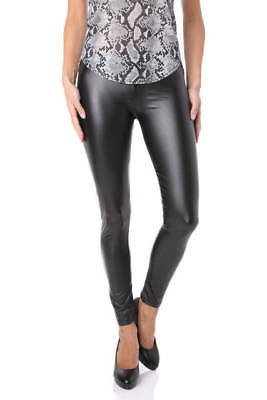 Pantalon leggings simili Femme Grande Taille 46 noir Lila ZAZA2CATS new