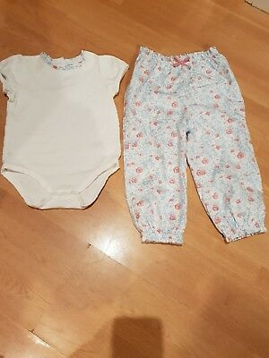 Little white company 18-24 months girls outfit only worn once