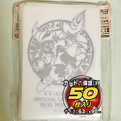 Yugioh Card Protector Dark Magician & Dark Magician Girl white 50 Sleeve 63x90mm