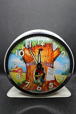 WOODY WOODPECKER Woody´s Cafe animated alarm clock, working, Westclox, 1960´s