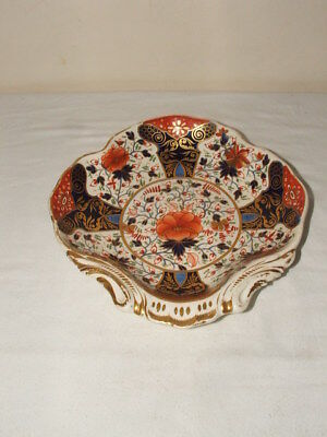 ROYAL CROWN DERBY OLD JAPAN EARLY 1800s SHELL SHAPED BOWL TRULY STUNNING