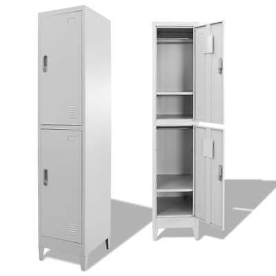 Locker Cabinet With 4 Compartments For Clothing Shoes Accessories Sports Room US