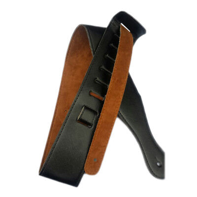 100% NEW ADJUSTABLE REAL LEATHER BASS RHYTHM GUITAR STRAP UK free shipping BC2
