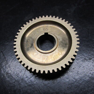 """Brass Helical Gear SRS-20-3  GS 49 Tooth 5/8"""" Bore x 2-1/8"""" Dia x 1/2"""" Thick"""
