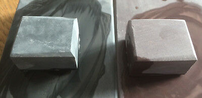 SET OF 2  NATURAL slurry or rubbing stones 8k & 12k